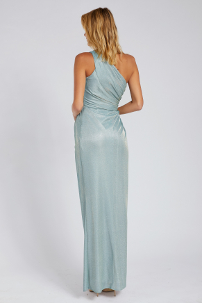 Green Small Size Long Evening Dress Y8310