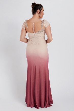 Grey Big Size Long Evening Dress Y8332