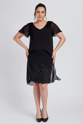 Bıg Sıze Short Evenıng Dress Y8364