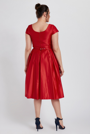 Red Big Size Short Evening Dress Y8757