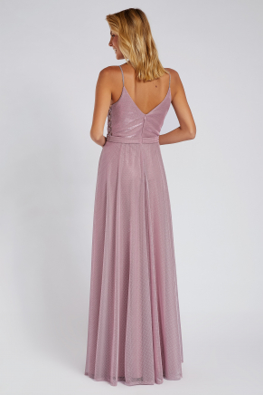 Pink Small Size Long Evening Dress Y8776