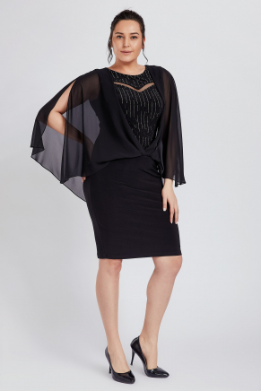 Bıg Sıze Short Evenıng Dress Y8778