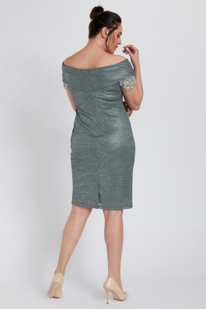 BIG SIZE SHORT EVENING DRESS Y8780