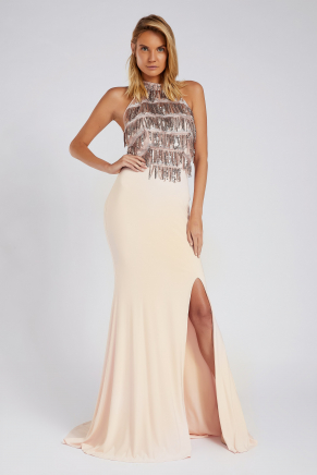 SMALL SIZE LONG EVENING DRESS Y8784
