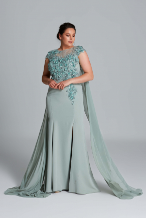 Big Size Long Evening Dress Y9154