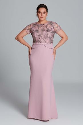 Big Size Long Evening Dress Y9143