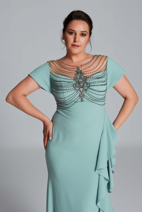 Big Size Long Evening Dress Y9149