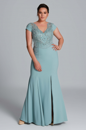 Big Size Long Evening Dress Y9121