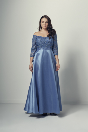 Big Size Long Evening Dress Y9142