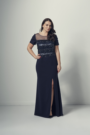 Big Size Long Evening Dress Y9184